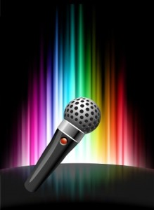 microphone rainbow